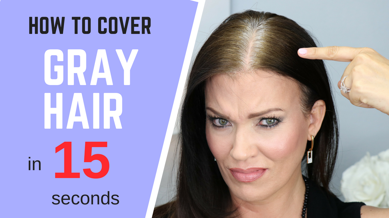Cover Gray Hair WITHOUT Coloring Your Hair – IN SECONDS ...